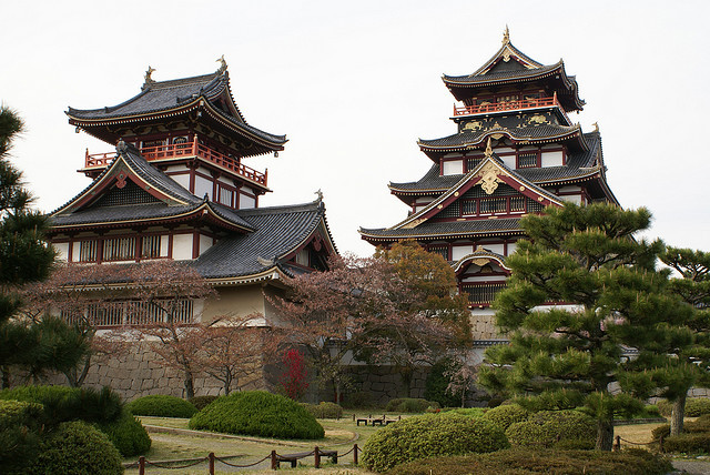 Fushimi-Momoyama Castle, is a castle in Kyoto, Japan. The tomb of Emperor Meiji is located in Fushimi Castle.