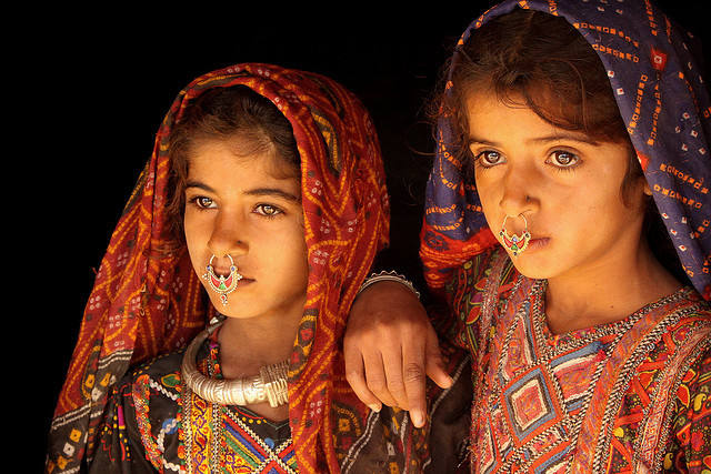 by Retlaw Snellac on Flickr.Young faces of the world - Dhaneta Jat tribe girls, India.