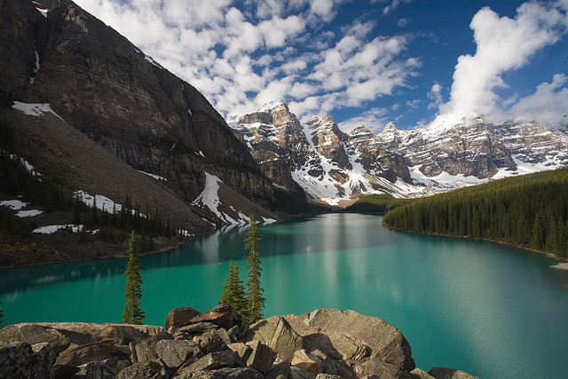 by oldsamovar on Flickr.Lake Moraine, Banff National Park. Alberta, Canada.
