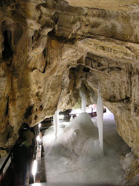 by chrisbwah on Flickr.Demanovska Ladova Jaskyna ice caves, near Poprad, Slovakia.