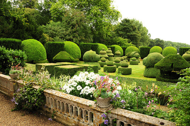 by UltraPanavision on Flickr.The sunken topiary chess garden at Haseley Court in Oxfordshire is one of the most iconic gardens in Britain.