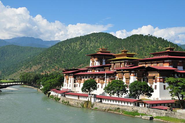 by john a d willis on Flickr.Punakha Dzong Monastery - Bhutan.