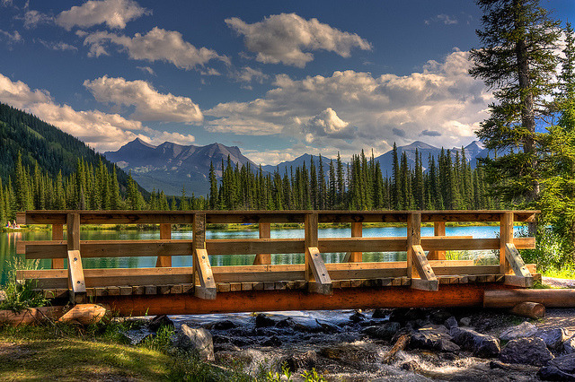 by JoLoLog on Flickr.Forgetmenot Pond, Kananaskis country, Alberta, Canada.