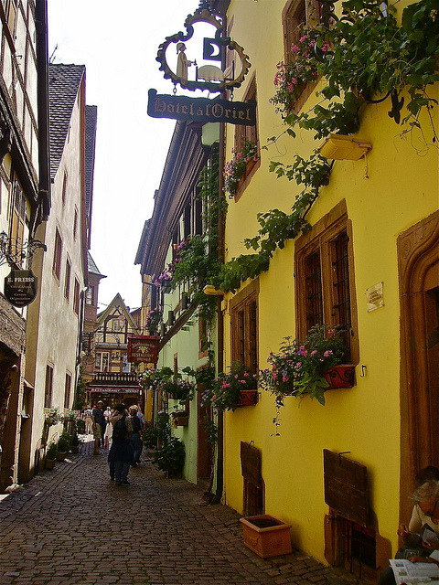 by boram@rs on Flickr.Alley in the beautiful alsacian village of Riquewihr, France.