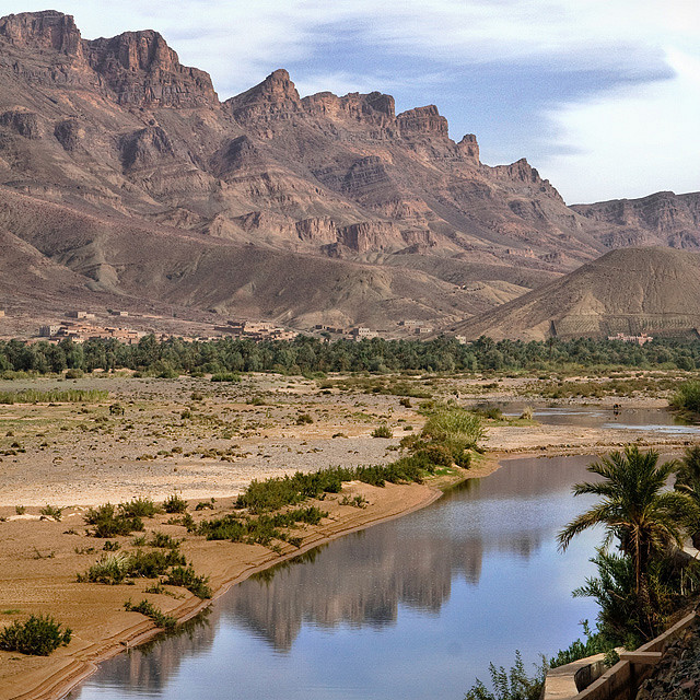by pas le matin on Flickr.Landscape of the Draa river, the longest river of Morocco.