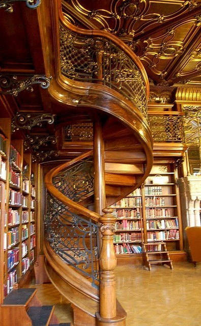 Wood Spiral Staircase, London, England