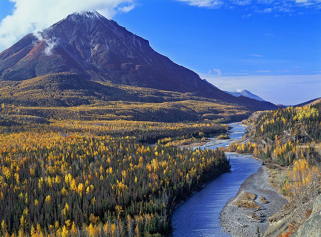 by Landscape Images by David Shield on Flickr.Autumn has come to Matanuska-Susitna Valley. in Alaska, USA.