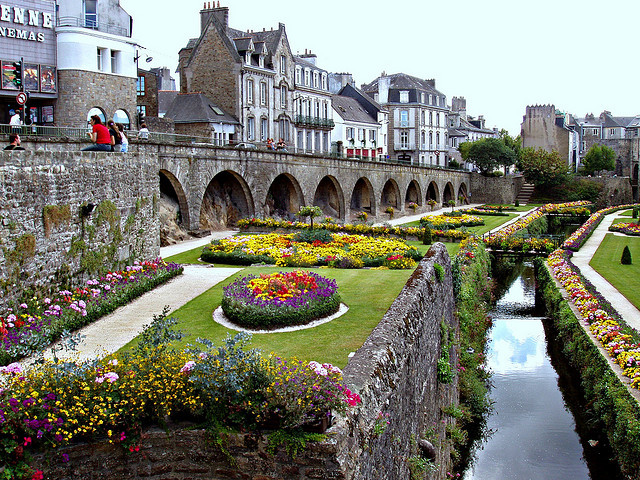 by Massimo Carradori on Flickr.City walls and gardens of Vannes in Brittany, France.