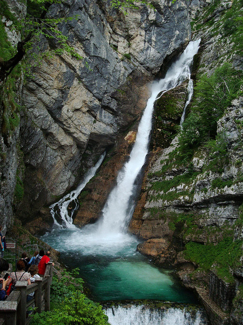 by Hornplayer on Flickr.Savica waterfalls in Upper Carniola region of Slovenia.