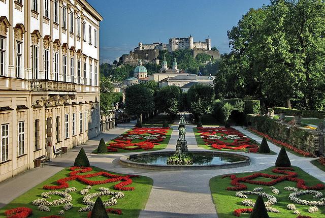 by werner boehm * on Flickr.The fortress seen from Mirabel Gardens in Salzburg, Austria.