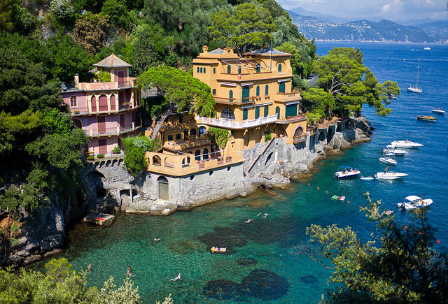 by Mohamed Haykal on Flickr.Welcome to Portofino on the Italian Riviera.