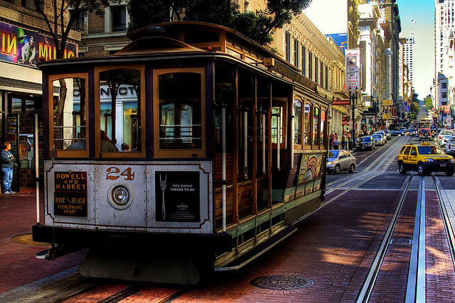by smif on Flickr.Typical sight in downtown San Francisco, California.