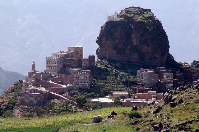 The hill village of Al-Hutaib in Yemen