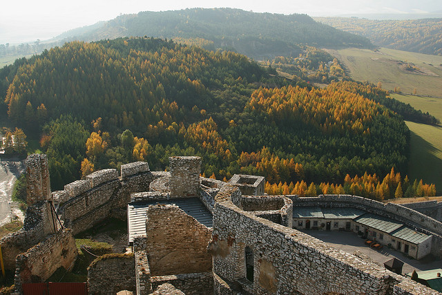 Panoramic view from Spis Castle, a Unesco World Heritage Site in Slovakia