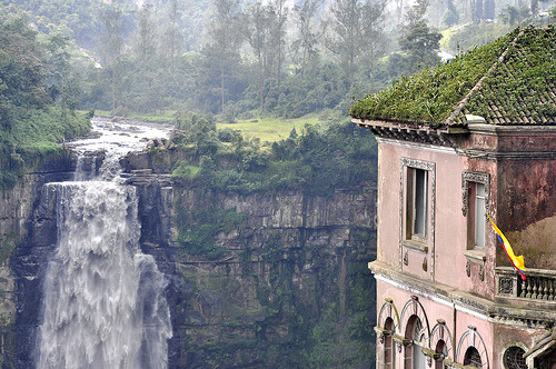 Waterfall View, Cundinamarca, Colombia.