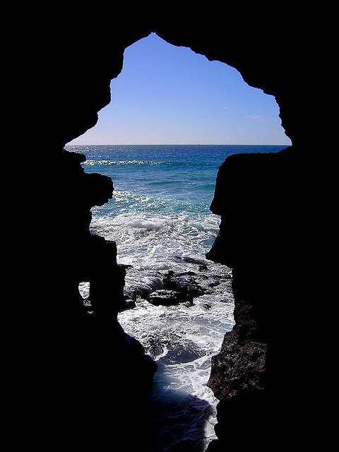 Fantastic Grotto of Hercules near Tangier, Morocco
