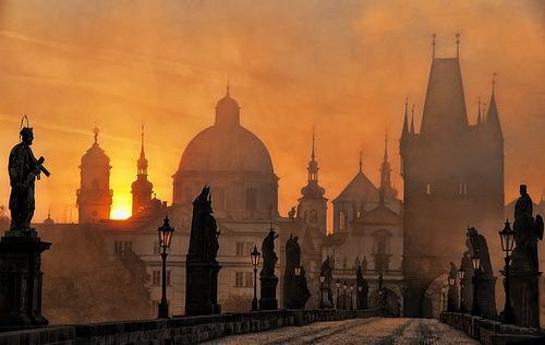 Sunset, Prague, Czech Republic