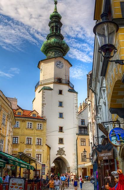 Michael's Gate in old town of Bratislava, Slovakia