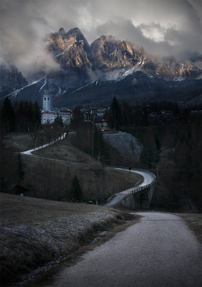 The winter is coming, Cortina d'Ampezzo, Dolomites, Italy