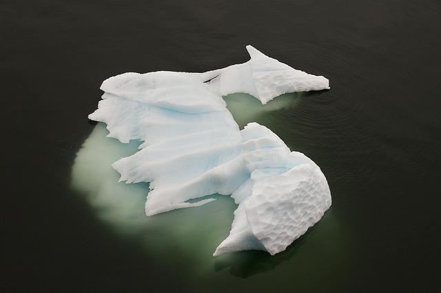 Dragon iceberg on Gerlache Strait, Antarctica