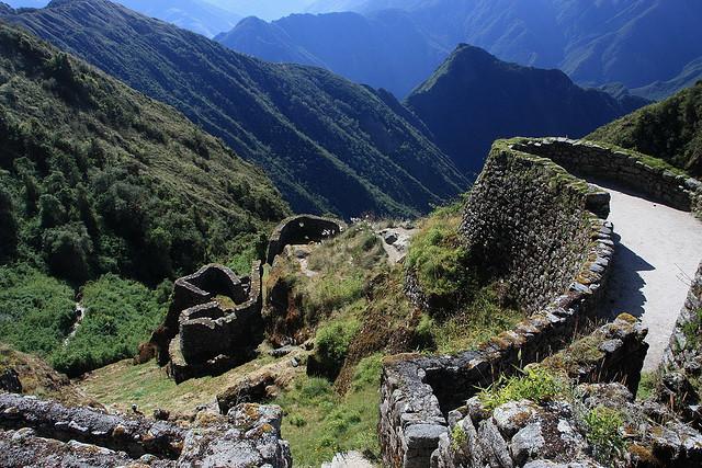 Puyupatamarca ruins on the inca trail, Cusco, Peru