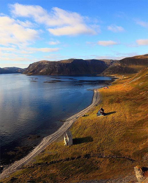 Arctic landscape in Gullgammen, Finnmark, Norway