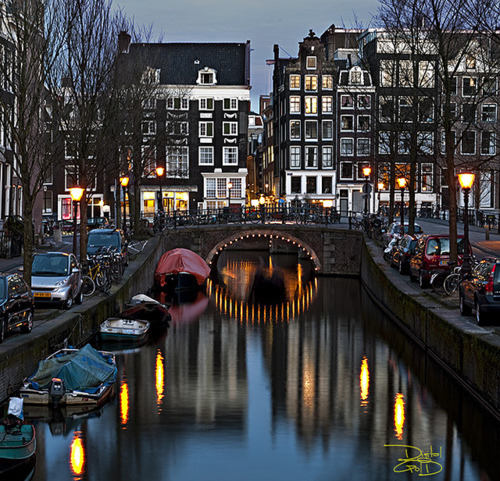 Dusk, Amsterdam, The Netherlands