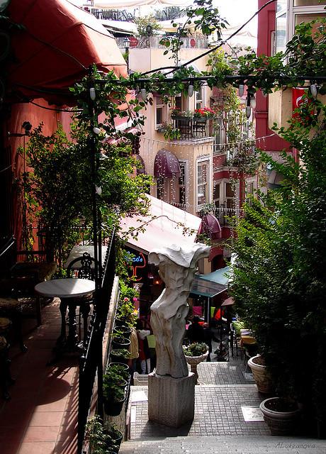 French street in Istanbul, Turkey