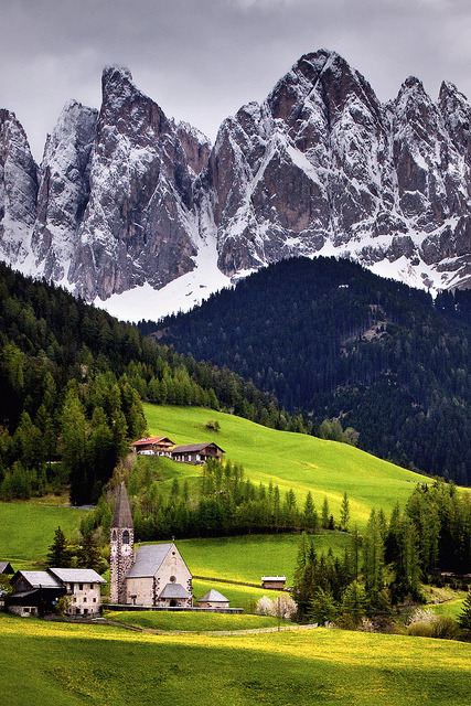 Mountain Village, Val di Funes, Italy