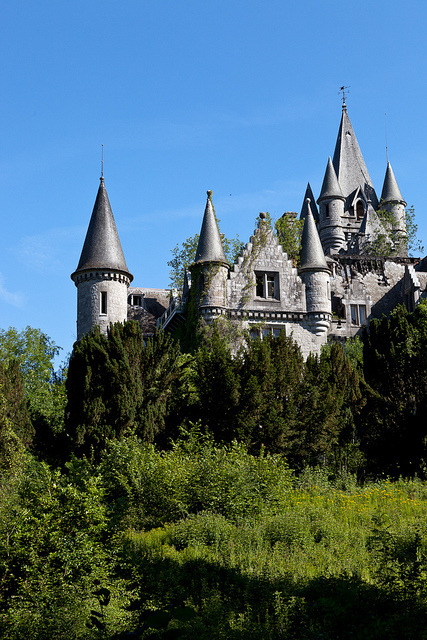 Chateau De Noisy, hidden in the forest around Celles, Wallonia, Belgium