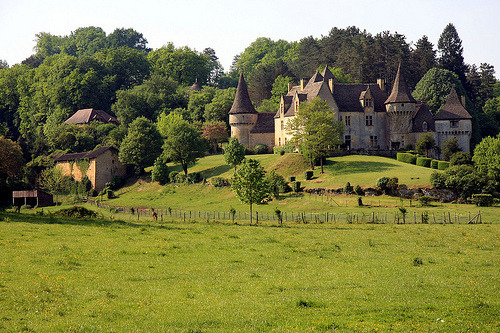 Countryside Castle, Dordogne, Aquitane, France