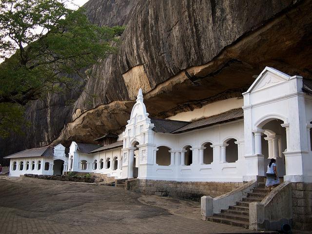 Rock Cave Temple in Dambulla, Sri Lanka