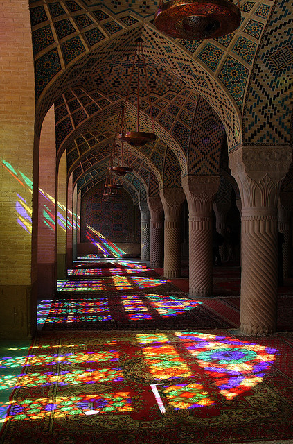 Nasir-ol-Molk Mosque in Shiraz, Iran