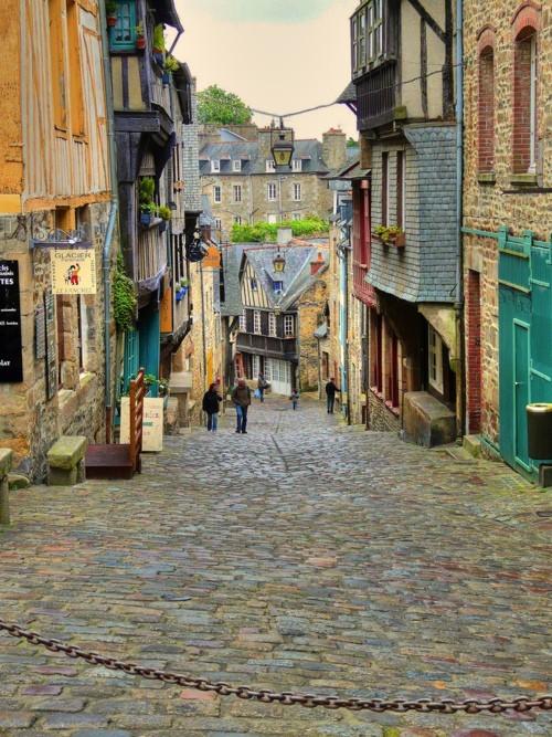 Medieval Village, Dinan, Brittany, France