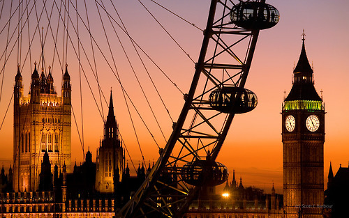 Golden Sunset, London, England