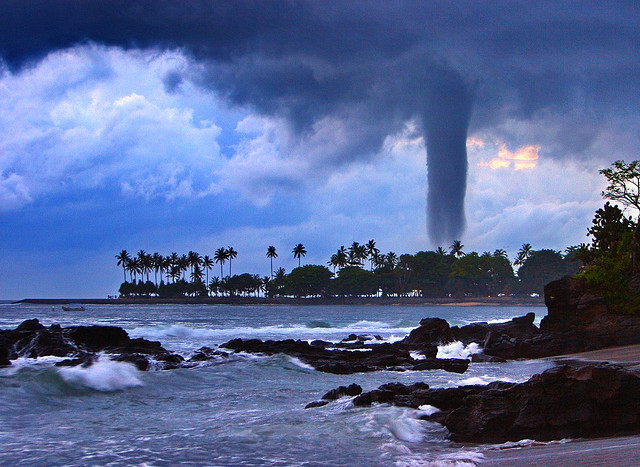 Tornado in Paradise, Senggigi Beach, Lombok, Indonesia