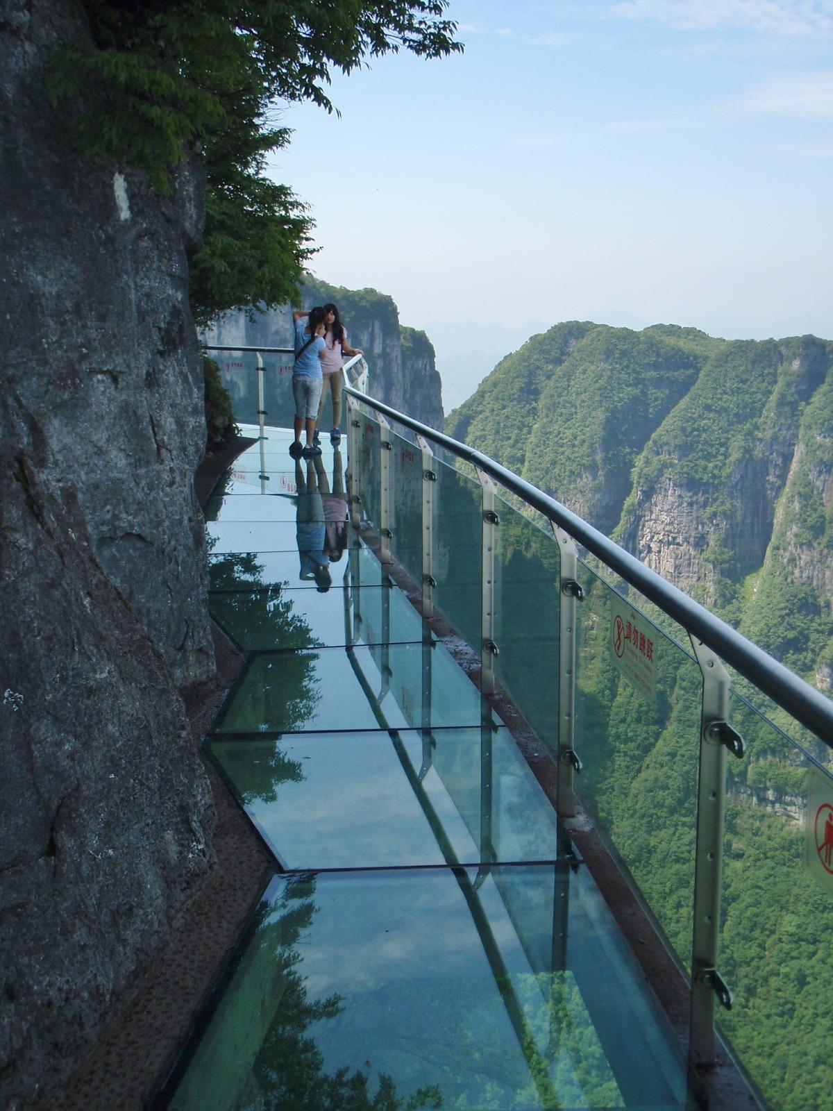 visitheworld:Dangerous glass walkway on Tianmen Mountain, Hunan, China.