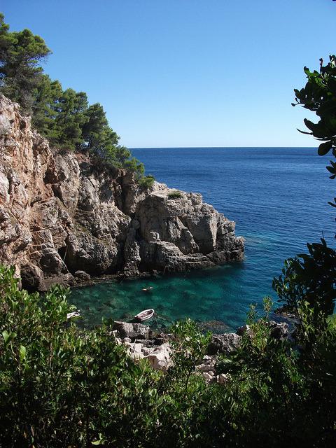 Hidden cove on Mljet Island, Croatia