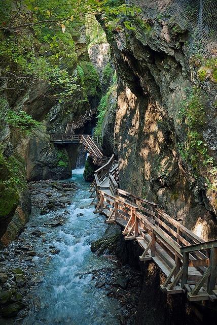 Canyon Path, Fieberbrunn, Tyrol, Austria
