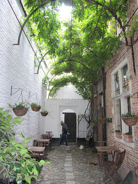 16th century alley in the town centre of Antwerp, Belgium