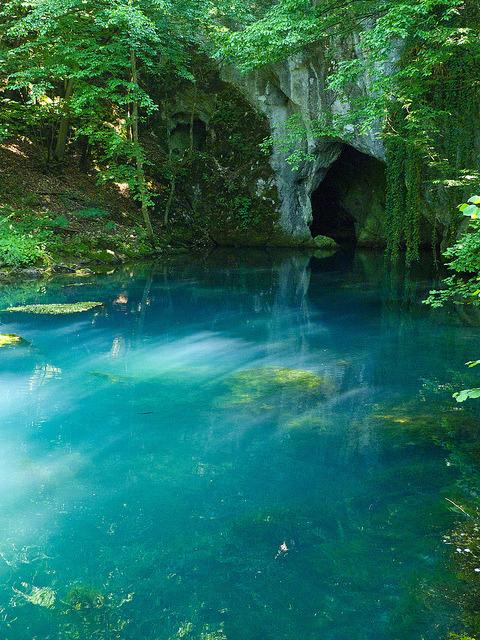 visitheworld:Krupajsko Vrelo blue karstic spring in eastern Serbia
