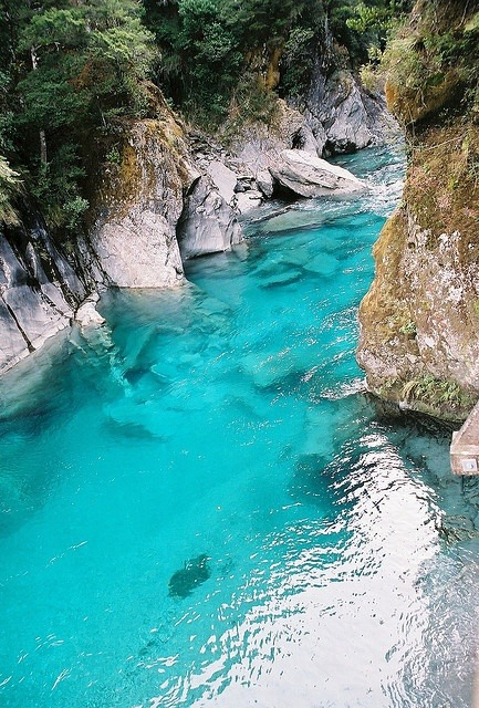 Turquoise River, South Island, New Zealand