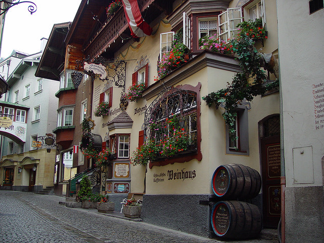 Idyllic houses in Kufstein, Tyrol, Austria