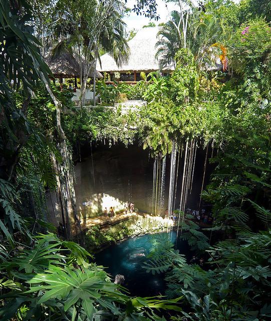 Ik Kil Cenote in Yucatan Peninsula, Mexico
