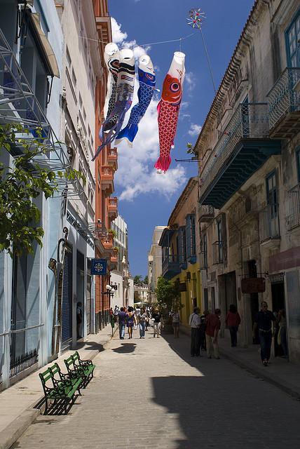 Lovely side street in Old Havana, Cuba