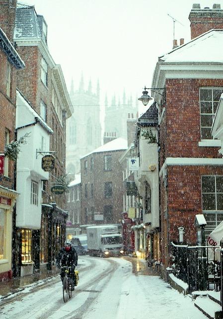 Snowy Day, York, England