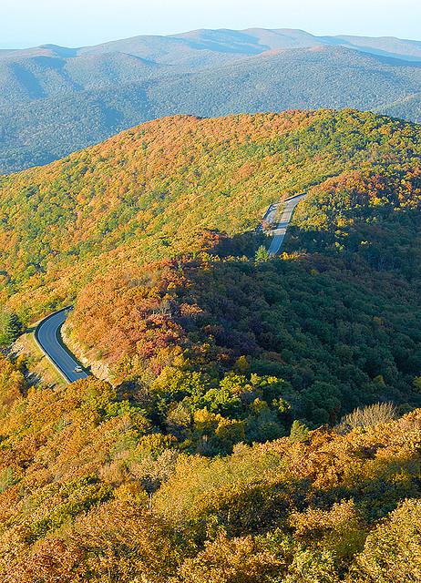 Skyline Drive in Shenandoah National Park, Virginia, USA
