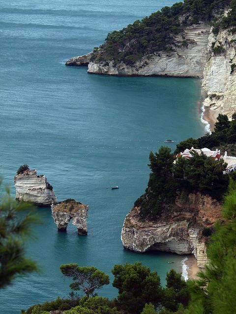 Baia delle Zagare in Puglia, Italy