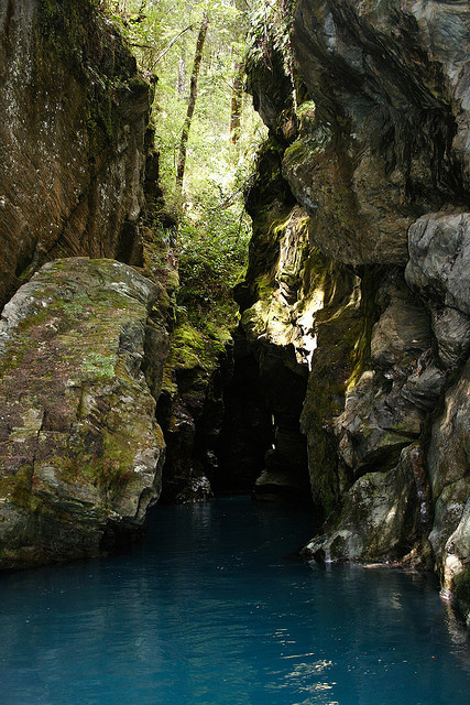 The Rockburn Chasm on Dart River, New Zealand