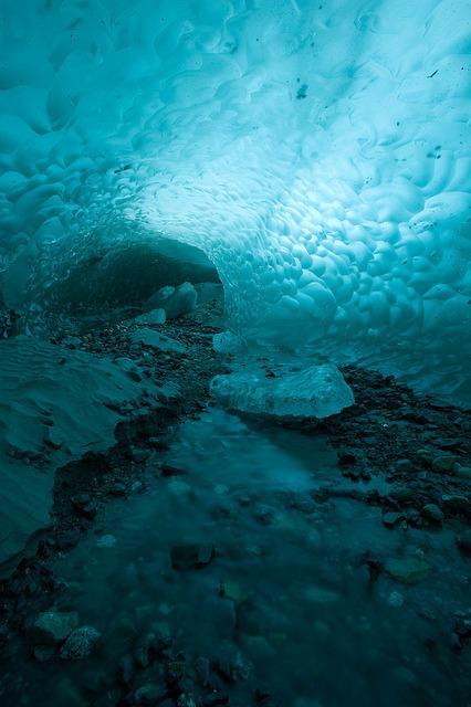 Juan's Glacier Cave in Parque Nacional Los Glaciares, Patagonia